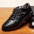 Venta caliente Del Mens Casual Zapatos de Cuero de LA PU Zapatos Planos de Los Hombres ZNPNXN 2016 Zapatos negro Zapatos de Marca Para Hombres de la Marca de Lujo Hombre