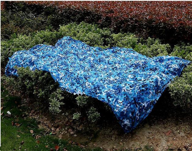 1.5M*9M blue military camouflage netting camo Netting light netting for awning shade sun canopy military shelter  jungle tent