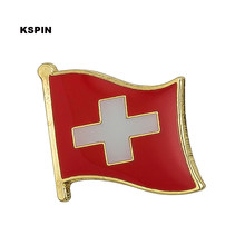 Swiss Flag Pin Lapel Pin Bros Ikon 1 PC KS-0149(China)