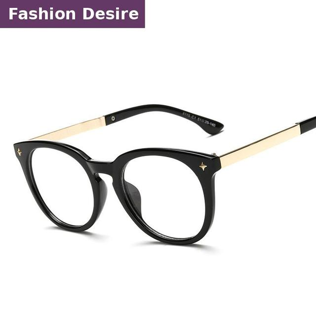 dfcbdc1ef7 2016 recién llegado de moda gafas monturas de gafas para mujeres hombres  Vintage Retro Redondo Eyewear