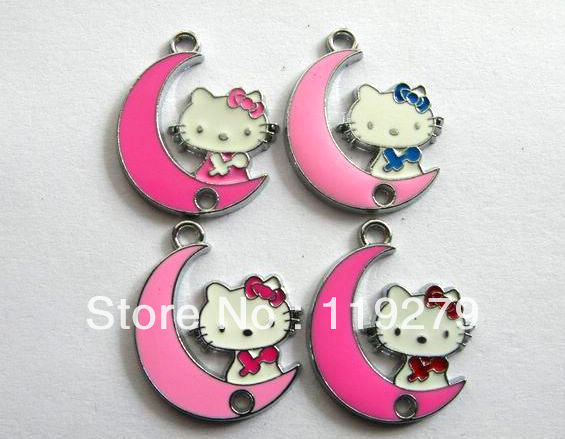 1pc Hello Kitty Enamel Hang Pendant Charm size: 25x20mm stuff: Zinc alloy fit necklace cell phone charms