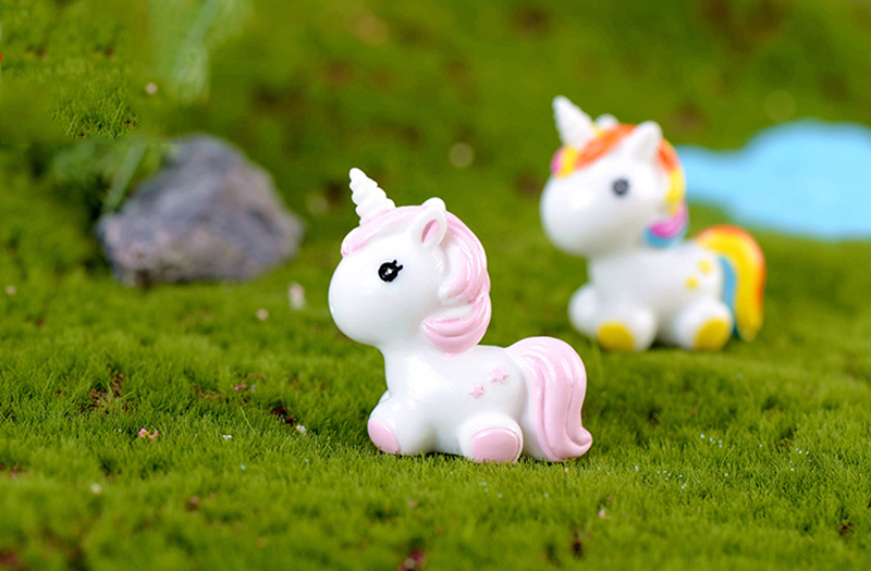 Accessories Rainbow Unicorn Miniature Dollhouse FAIRY GARDEN