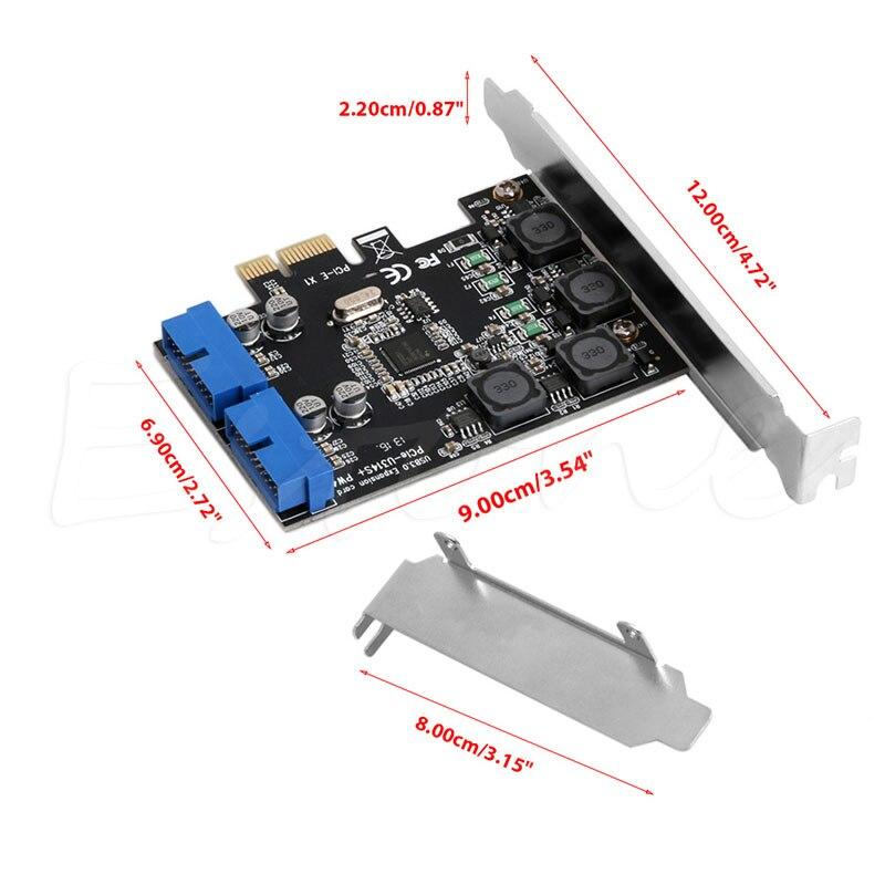 5 Гбит/с низкопрофильный кронштейн внутренний 2 порта 19Pin USB 3,0 карта PCI-e для PCI 20Pin мужские Порты адаптер удлинитель карта для рабочего стола