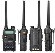 10km Walkie Talkie UV 5R BaoFeng uv5r avcılık için 136 174MHz 400 520MHz vhf uhf mobil radyo çift bantlı radyo cb baofeng uv 5r