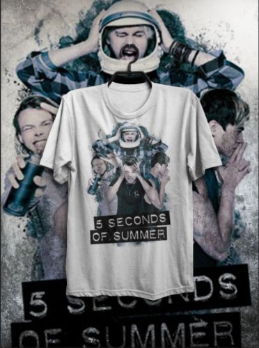 T-SHIRT MAGLIETTA 5 SECONDS OF SUMMER SOS MAROON ONE DIRECTION POP UOMO DONNA Men Cotton T-Shirt Printed T Shirt top tee