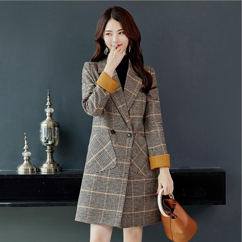 Fashion Trench Coat for women Clothes Classic Double Breasted Long Coat Outerwear manteau femme hiver abrigo mujer