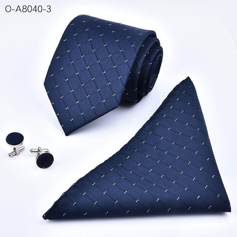 e3194d7f7e6 Best buy Fashion Necktie High Quality 8cm Men s ties for suit business  wedding Casual Black Red Tie a handkerchief Cufflinks three suit online  cheap