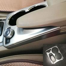 Авто внутренняя отделка подлокотника коробка Панель Сталь Стикеры центральной консоли Крышка для Mercedes Benz 2008- GLK 220 250 300 350 GLK X204