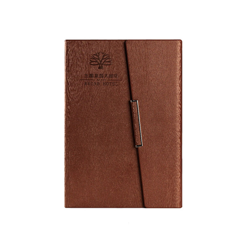 High Quality Wood Grain Binder Logo Custom A5 Notebook