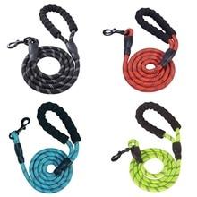 Mountain Climbing Nylon Rope Large Dog Leash soft padded handle pet Leashes Long Lead Reflective Medium Big Dogs Leash Rope
