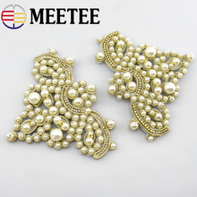 1pair fashion pearl small crown shoes flower Patches DIY handmade jewelry popular pearl shoes decoration accessories AP2770