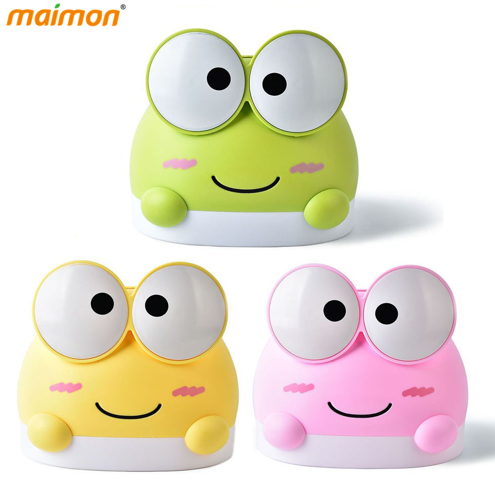 Colored Cartoon Frog Tissue Box Container Kitchen Napkin Roll Paper Plastic Storage Box Holder Home Office Table Decoration