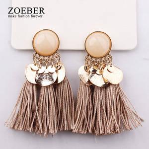 77afd4fe95f7a4 zoeber 2018 Drop Earrings Tassel Earrings for Women Jewelry