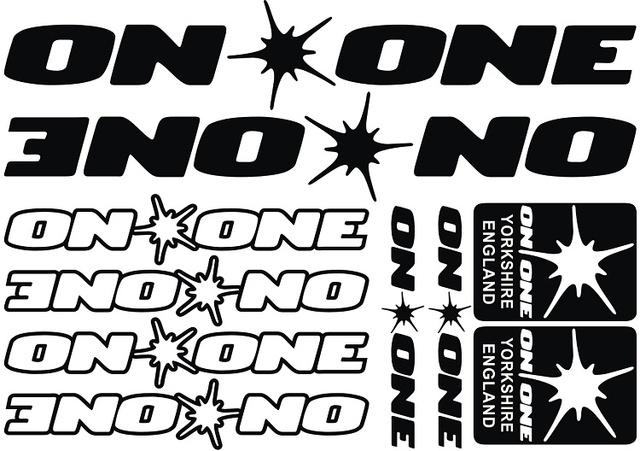 On one bike decals diy frame stickers bicycle stickers die cut decal sticker sheet