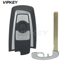 Remotekey YGOHUF5662 Smart Car Key for BMW 5 7 F Series 3 Button 315mhz HUF662 Blade key 2009 2010 2011 2012 315 433 868 mhz smart remote key 4 buttons for bmw 3 5 7 series cas4 system 2009 2010 2011 2012 2013 2014 2015 2016 kr55wk49863