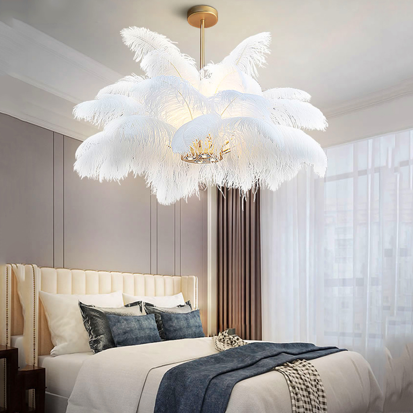 best top feather chandelier