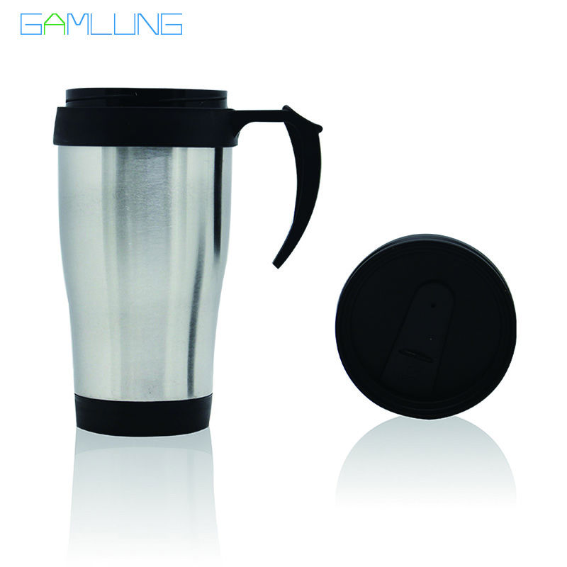 Gamlung Brand <font><b>Stainless</b></font> <font><b>Steel</b></font> Travel Mug Coffee Tea <font><b>Cup</b></font> With <font><b>Handle</b></font> and <font><b>Lid</b></font> 14oz 2017