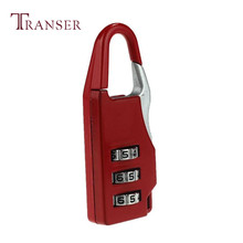 Przeniesienie najlepszy prezent kolorowy podróż 3 cyfrowy kod bezpieczne połączenie kłódka do bagażu kłódka walizka a19 * tanie tanio Transer Metal LOCK Black Silver Red Beige Light blue about 5 1*2 1*0 8cm 1pcs