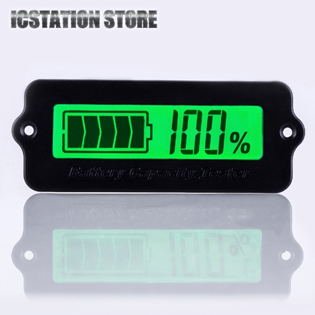 LY6W Battery Capacity Tester Indicator For 12V Lead Acid Battery 8-63V Green Light LCD Power Display Module