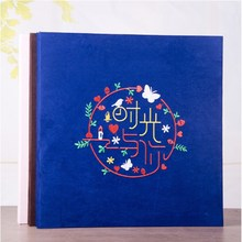18 Inch Photo Album Fabric Embroidery DIY Scrapbook Paste Type Film Family Couples Creative Gift