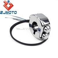 Motorcycle 7/8 Bar Kill Horn Reset Push Button Switch For Honda Yamaha Suzuki Kawasaki On/Off Light Start Kill 3 Button Switch