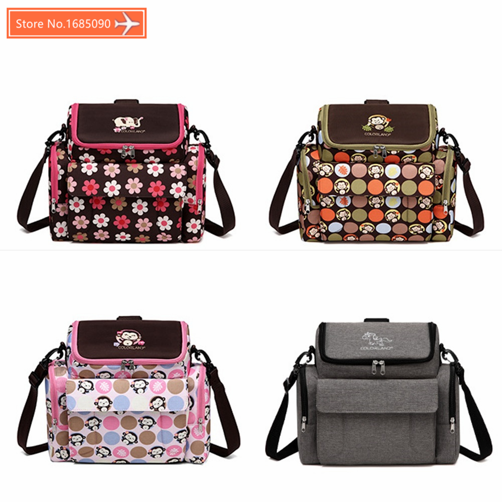 COLORLAND Diaper Bag Portable Baby Feeding Highchair&Mummy Bag Infant Booster Seat Fashion Mummy Maternity Nappy Bag Baby Care baby dining lunch feeding booster seat maternity baby diaper nappy bag multifunction fashion hobos messenger bags for baby care