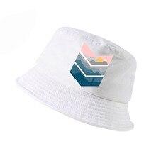 Newest 2019 men Women fashion mountain printed fisherman cap Harajuku pop funny bucket hat Hipster summer panama fishing hats
