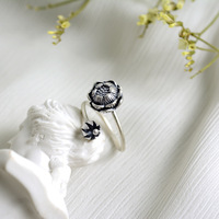 925 Sterling Silver Thai Silver Lotus Seedpod Of The Lotus Ring Female