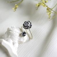 925 Sterling Silver Thai Silver Lotus Seedpod Of The Lotus Ring Female