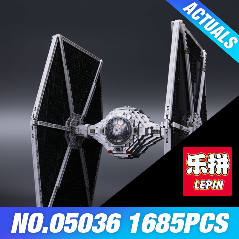 Lepin 05036 1685pcs Star Series War Toys Tie Model Fighter Building Educational Blocks Bricks Compatible 75095 for kids Gifts dhl lepin 05055 star series military war the rogue one usc vader tie advanced fighter compatible 10175 building bricks block toy