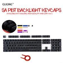 104 ключей/набор SA высота Новое поступление двойной съемки с подсветкой шаровые колпачки для ключей PBT Чехлы для клавиш для вишни механическая клавиатура MX