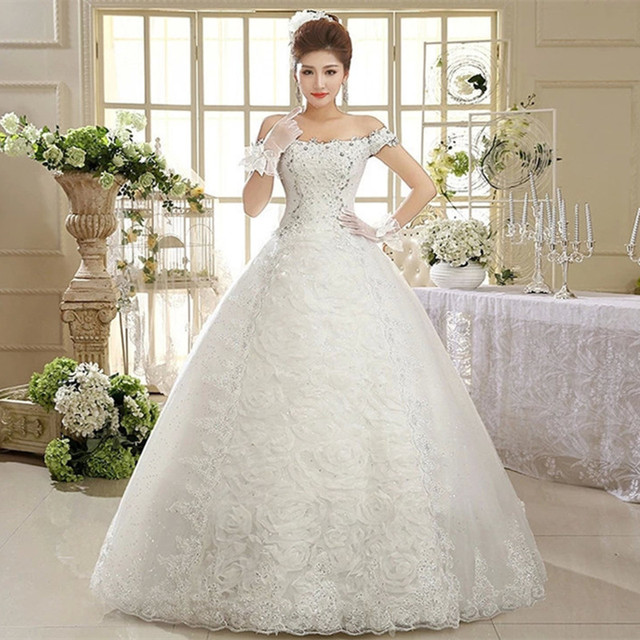 ac98121e29c3d Free shipping 2015 new design high quality wedding dress white princess wedding  gown fashion sexy Vestidos
