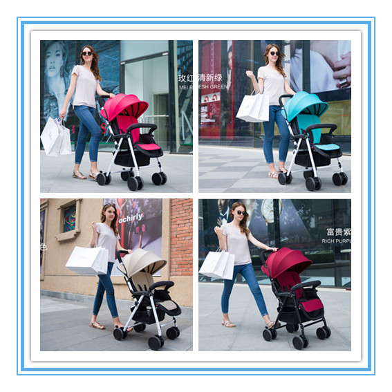 Hot Lightweight Baby Pram Pink,Green,Beige,Red Colors Kids Stroller For 0-36 Months Children Trolley Easy To Carry For Mother