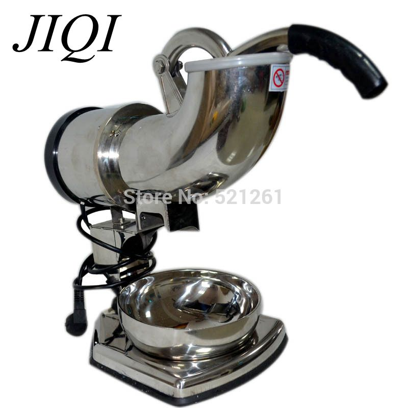 JIQI Kitchen tool Full commercial stainless steel electric ice shaver ice crusher ice machine Small size jiqi electric ice crusher shaver snow cone ice block making machine household commercial ice slush sand maker ice tea shop eu us