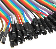 1 set/40pcs  Dupont Cable 20cm 2.54mm 1pin 1p-1p Female to Male jumper wire for Arduino  Raspberry Pi