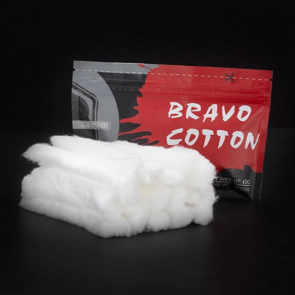 Coil Father Bravo Cotton Bacon for RDA RTA RDTA Atomizer Coil Wick Organic Cotton Electronic Cigarette Accessories for Vape