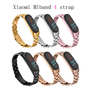 Wrist Strap for Xiaomi Mi Band 4 Stainless Steel band strap for Miband 4 Smart Wearable Accessories Replacement metal Strap