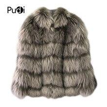 Y181003 knit knitted 100% Real silver fox fur coat jacket overcoat Russian women's winter warm genuine fur coat pink