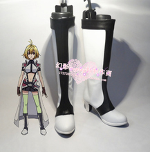 Cross Ange Tenshi to Ryuu no Rondo Halloween Cosplay Long Boots Shoes H016