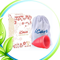 3PCS Feminine hygiene product Medical Grade Silicone Menstrual  Reusable Medical Grade Silicone Menstrual Cup Lady Menstruation