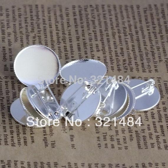 Free shipping!!! 200pcs Shiny silver plated metal Safety pin 20mm Teeth Brooch Base Cabochon setting blanks