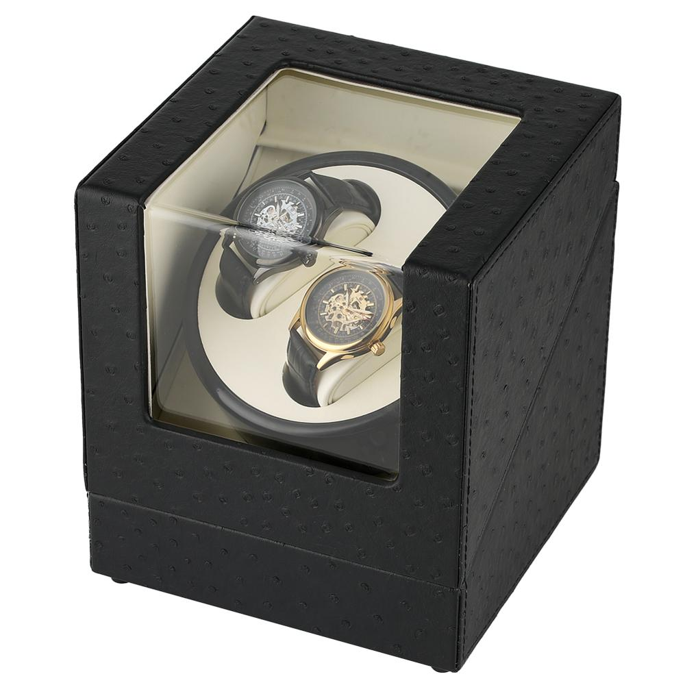 Automatic Watch Winder Luxury Classical Black Mixed Material Winders Clock Watchwinder caja reloj automatico