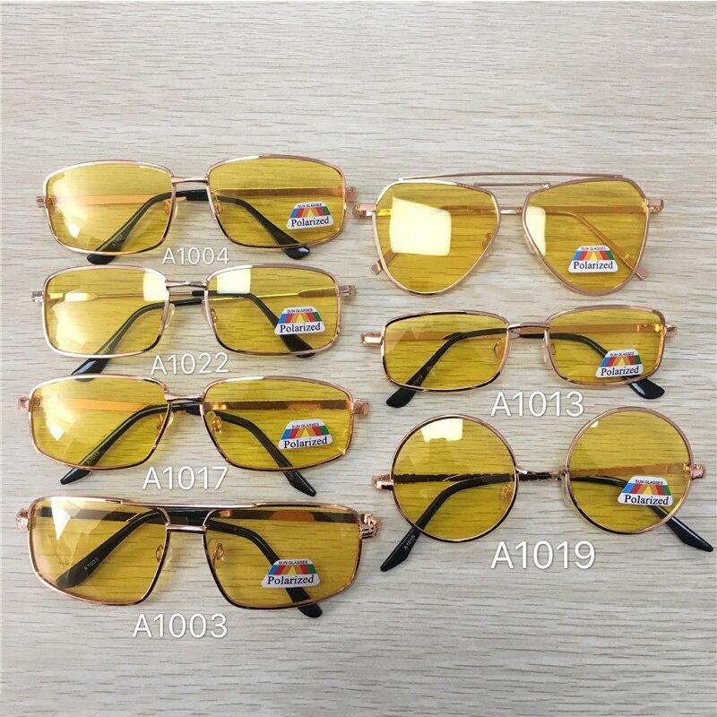 Vazrobe Night Driving Glasses Polarized Men Women Yellow Lens Round/square/rectangle Polarizing Driver's Sunglasses Anti Glare