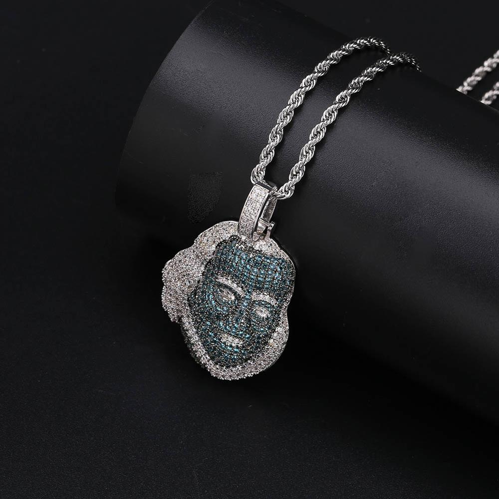 """Hip Hop Tekashi69 69 Medal Necklace /& 12mm 18/"""" Full Iced out Cuban Choker Chain"""