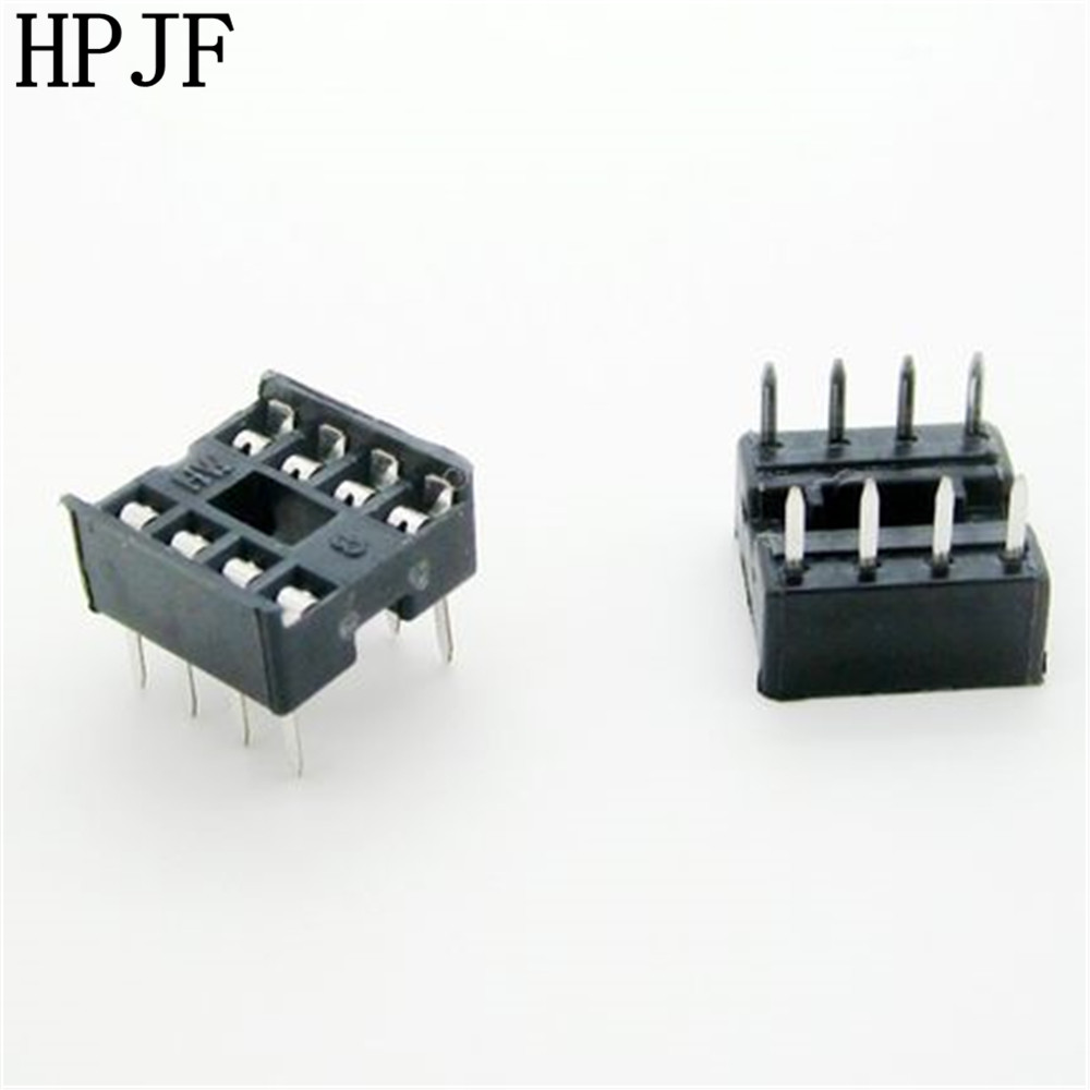 60PCS/Lot 8 Pin DIP Square Hole IC Sockets Adapter 8Pin Pitch 2.54mm Connector