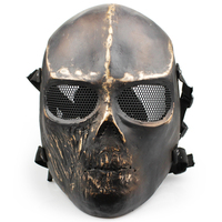 1pc Metal Full Face Skull Full Face Tactical Mask CS Protection Paintball Airsoft Gun TPU Masks
