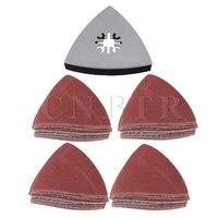 CNBTR 5 X 80mm Universal Oscillating Polishing Triangular Sanding Pad Sandpaper Set