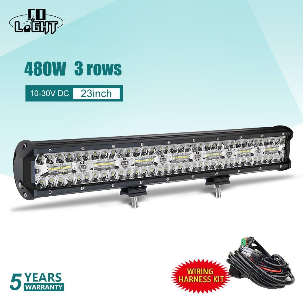 CO LIGHT 3 ряда 23 светодио дный светодиодный световой бар 480 Вт светодио дный светодиодный бар Combo Авто Вождение рабочий свет 12 В в В 24 В для внедо...