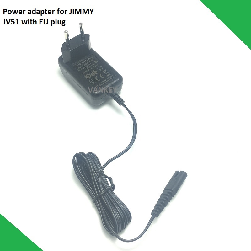New Original Power Adapter With EU Plug For Jimmy Wireless Handheld Vacuum Cleaner JV51 JV53 JV71 Spare Parts Accessory