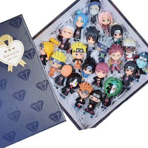 """Naruto Akatsuki Uchiha sasuke KillerB sakura madara kakashi Zabuza Hidan Haku Orochimaru 7cm/2.5"""" Qver model action figure toys(China)"""